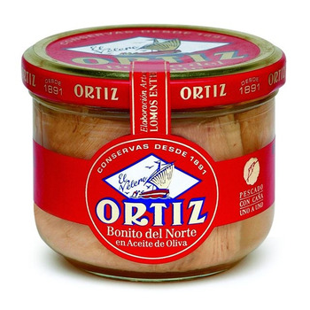 Tuna In Olive Oil Glass Ortiz