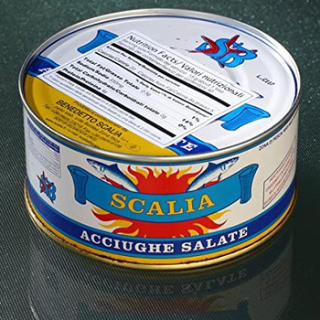 Anchovy Whole In Salt Scalia