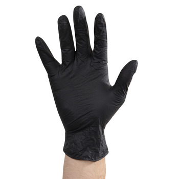 Gloves Nitrile Black Sm Pf