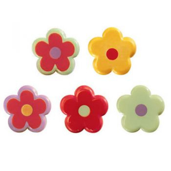 Pcb Assorted White Chocolate Flowers Dã‰cor