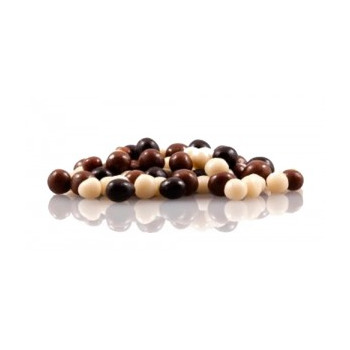 Chocoa Dark/milk/white Chocolate Crispy Pearls