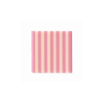 Decor Domino Sq Pink Wht