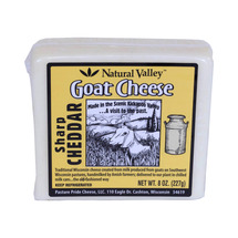 Natural Valley Sharp White Cheddar Goat Cheese (8
