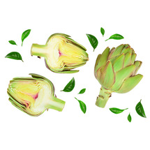 Artichoke Pieces In Water