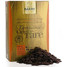 Cacao Barry 75% Tanzanie Chocolate Pistoles