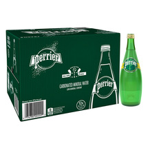 Perrier Water 25 oz Glass