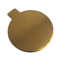 Enjay 3.25 In. Round Gold Pastry Board