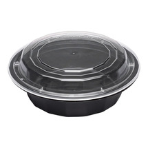 Round Black To Go Box/lid