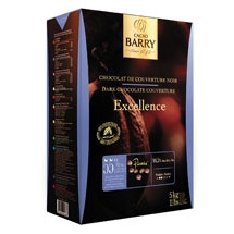 Cacao Barry 55% Excellence Semisweet Chocolate Pis